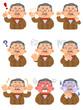 富裕層の男性 様々な表情
