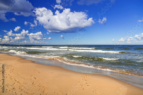 Baltic Sea beach in Poland