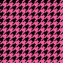 Pink Houndstooth Pattern