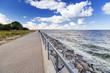 Promenade at Baltic Sea in Gdansk, Poland