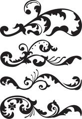 Set of victorian dividers line