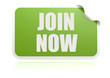 Join now green sticker