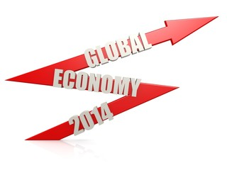 Global economy 2014 arrow