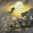 light bulb 3d on business strategy