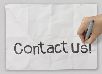 Hand writing Contact us