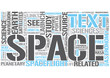 Space science Word Cloud Concept