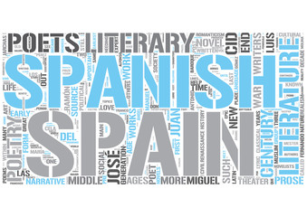 Spanish literature Word Cloud Concept