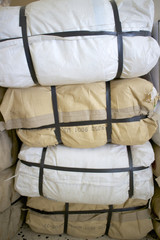 Pile plastic sacks