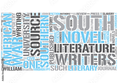 Southern literature Word Cloud Concept