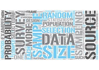 Statistical sampling Word Cloud Concept