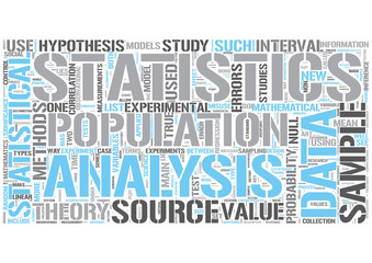 Statistics Word Cloud Concept