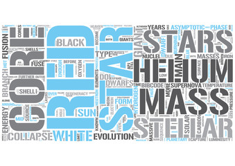 Stellar evolution Word Cloud Concept