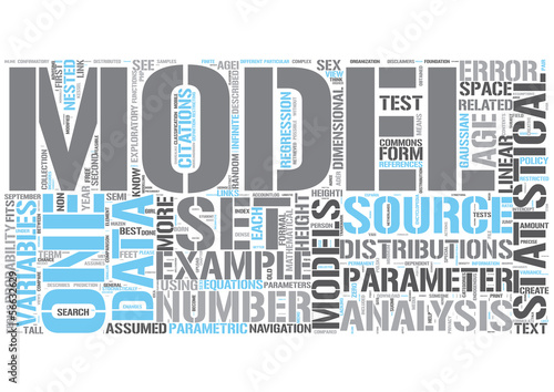 Statistical model Word Cloud Concept