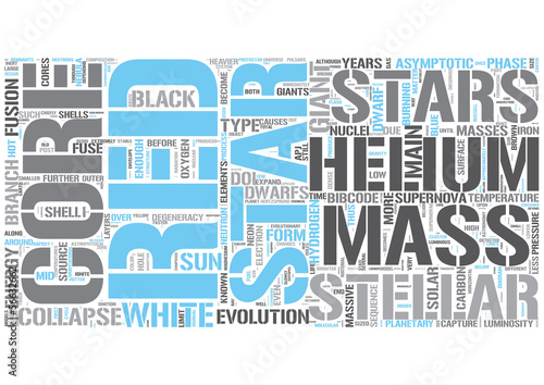 Stellar evolution Word Cloud Concept