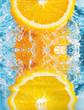 Fototapete Platsch - Wasser - Obst