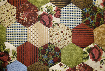old-fashioned patchwork quilt