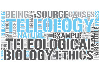 Teleology Word Cloud Concept
