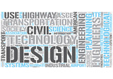 Transportation engineering Word Cloud Concept