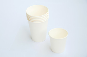 Group of coffee cup made from cup stock paper
