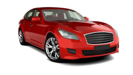 Limousine rot freigestellt