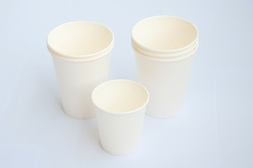 Group coffee cup made from cup stock paper