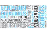 Volcanology Word Cloud Concept
