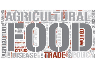Agricultural policy Word Cloud Concept