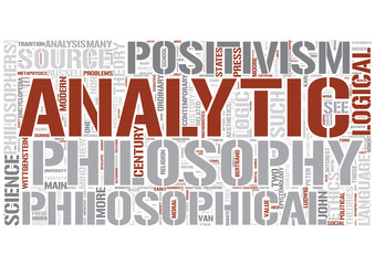 Analytic philosophy Word Cloud Concept