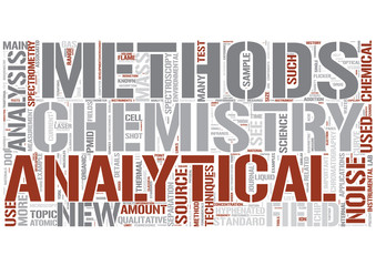 Analytical chemistry Word Cloud Concept