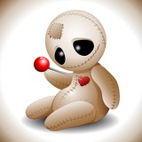 Voodoo Doll Cartoon in Love-Bambola Voodoo Amore e Cuore