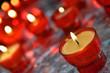 Firing candles in catholic church closeup image
