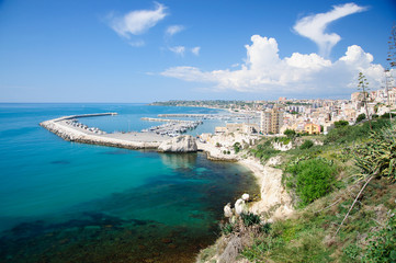 The Port of Sciacca, in province of Agrigento, Sicily, IT.