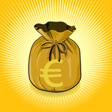 Euro Dollar Gold Bag of Money Save for Success.