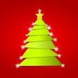 Grüner Weihnachtsbaum mit Glitzer