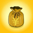 Japan YEN Gold Bag of Money Save for Success
