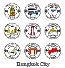 symbol of bangkok city thailand