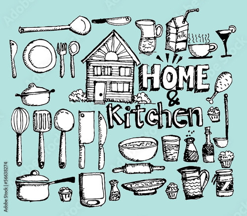 kitchen tools - doodles collection