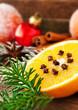 Orangen und Nelken - Dekoration
