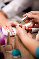 manicure making concept