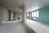 Fire alarm system, wet zone in flat, building under construction