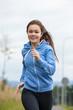 Urban leisure - girl running