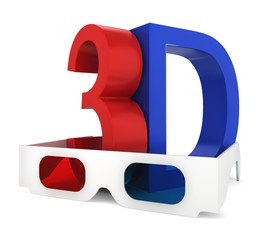 3D glasses with symbol