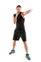 Mann beim Boxtraining