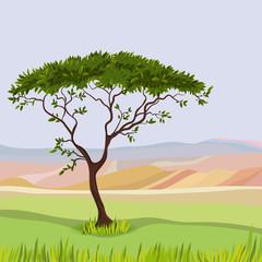 Mountain idealistic natural landscape