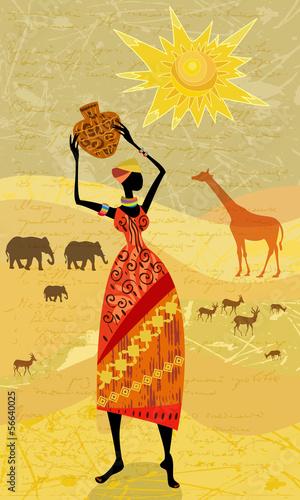 afrikaner-auf-dem-weinlesehintergrund-fur-ihr-design