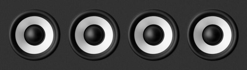 Black & white speaker, on gray background