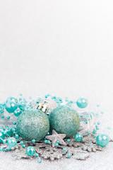 Weihnachtskarte türkis