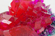 close up of crystals in ruby color - 56642202
