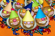 homemade funny clown muffins