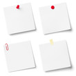 Collection of white note papers.